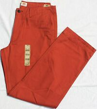 "NEW Men Dockers D2 Straight Fit ""Off The Clock"" -5 Pocket- Rust Color Pants $58"