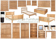 Cotswold Solid Waxed Pine Chunky Bedroom Furniture - FREE DELIVERY AVAILABLE