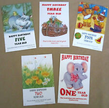 12 Children's Age Birthday Postcards with Bible Text