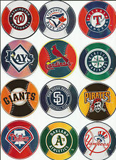 Major league Baseball prismatic stickers your choice of teams