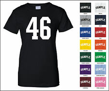 Number 46 Forty Six Sports Number Woman's Jersey T-shirt Front Print