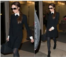 New Hot Fashion Lapel Collar Long Sleeve Slim Pencil Dress,Free Shipping