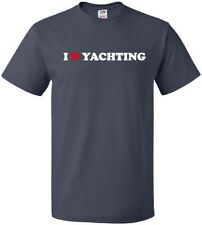 I HEART YACHTING Cool Recreational Luxury Boating Party LOVE T-Shirt