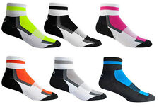 Aero Tech Colorful Coolmax Sock Quarter Crew Socks Made in USA Running Cycling