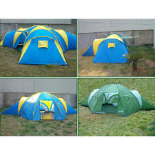 4 Sizes Waterproof 2000mm Camping Tent 3+1 Room Family Group Dome 8-10 Person