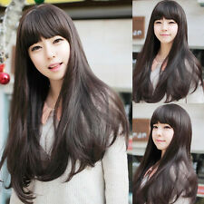 New Style Womens Girls Sexy Long Fashion Curly Full Hair Wig+wigs cap gift