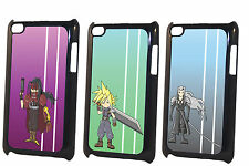 Final Fantasy 7 Game Chibi Cloud Sephiroth Vincent iPod Touch 4 4G Black Case