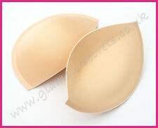 Sew in Bra Cups - FLESH - Various Sizes - PUSH UP - Bridal Gowns, Prom Dresses