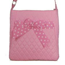 Hipster Crossbody  Bag Pink & Polka dot with Bow lace Quilted