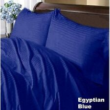 1000TC Pure Cotton Egyptian Blue Stripe Bedding Items Choose Sizes & Free Shipp