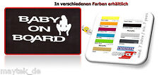 2# Baby on Board - 65x140mm -Aufkleber,Sticker, MILF,Brazzers,Bunny,Bang Bus,FUN