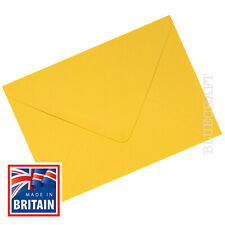 C6 A6 Golden Yellow Premium Envelopes 100gsm - 114 x 162mm - 4.48 x 6.38 inches