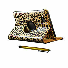 Leopard PU Leather Case and Stylus pen for Samsung Galaxy Tab 2 7in P3110 cover