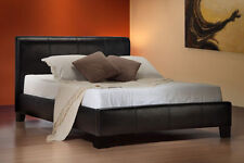 **BRAND NEW**  4FT6 DOUBLE FAUX LEATHER BED AND MEMORY FOAM MATTRESS