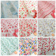 FAT QUARTERS  floral POLYCOTTON fabrics/material 20 x 22 inches