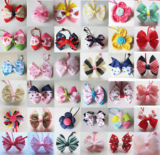 Girls Kids Toddler Childrens Hair Bow Ponies Elastic Bobbles Rope Accessories