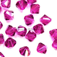5mm Fuchsia (502) Genuine Swarovski crystal 5328 / 5301 Loose Bicone Beads