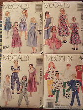 VTG McCALLS Girls/Boys Jumpers~Jumpsuit~Blouse~Petticoat~Top~Pants PATTERN 7-10