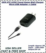 OEM HTC U250 Travel Home Wall Charger Micro USB Adapter + Cable HTC - PART 2