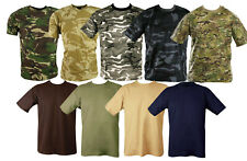 Unisex MILITARY CAMOUFLAGE CAMO T SHIRT ARMY COMBAT ( DPM MTP Desert Green etc