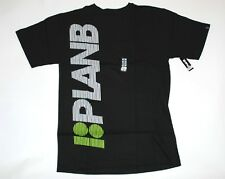 Plan B ACCEL TEE Black/Green/White Stripes Graphic Skateboarding Men's T-Shirt