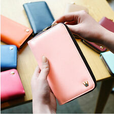 Multi Purpose Zip Smart Wallet Leather Case Purse Pouch Handbag For iPhone 4 4S