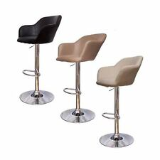 Hudson Breakfast Kitchen Faux Leather Bar Stool Barstools Black Cream Taupe