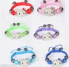 BRACELET SHAMBALLA HELLO KITTY COULEUR FLASH ENFANT FASHION NEUF + POCHETTE KDO