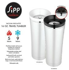 Thermos Sipp 16oz Stainless Steel Insulated Leak Proof Travel Tea Tumbler NS105