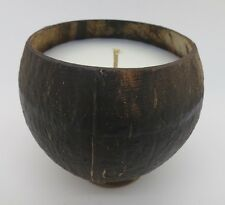 BEACH SEASIDE OCEAN HIGHLY SCENTED CANDLES IN REAL COCONUT SHELLS 12 TO 14 oz.