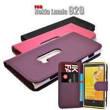 3 COLOUR PU LEATHER WALLET BOOK FLIP MOBILE PHONE CASE COVER FOR NOKIA LUMIA 920