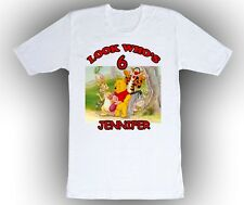 Personalized Custom Winnie the Pooh and Gang Birthday Shirt Gift, In the forest