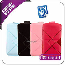 Pull Up Mobile Phone Case Cover Pouch For ORANGE Sydney, Buy 1 Get 1 FREE