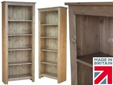 Solid Pine Bookcase, 1840mm x 750mm Handcrafted & Waxed Display Shelving Unit