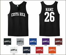 Country of Costa Rica Custom Personalized Name & Number Tank Top Jersey T-shirt