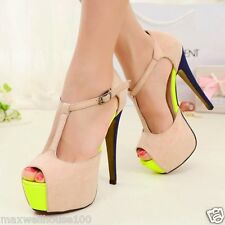 Sexy Women's High Heels Opened Toe Stiletto Sandal Shoes Platform Ankle Strap1ns