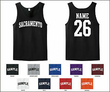 City of Sacramento Custom Personalized Name & Number Tank Top Jersey T-shirt