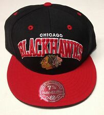 NHL Chicago Blackhawks Mitchell and Ness Arch Logo Fitted Cap Hat M&N TU59M NEW!