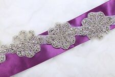 Trims/4pcs/2pcs Flower Rhinestone Crystal Beaded Craft Sew Iron Hot Fix Applique