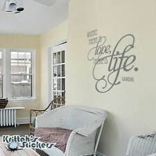 Where There Is Love There Is Life - Gandhi #2 Vinyl Wall Decal Quote home L008