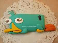 Cute 3D Perry the Platypus Silicone Soft Case rubber cover FOR Apple iphone 5S 5