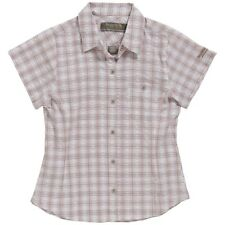 Womens REGATTA Brown Shirt JENNA Short Sleeve check shirt Brown Size 12 & 14