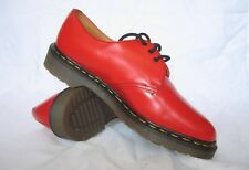 Vintage Dr. Martens Youth Women Red Gibson Classic Shoe UK 3 & 4 MADE IN ENGLAND