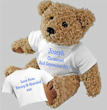 Christening Baptism Naming Ceremony Personalised Teddy Bear + Option of Gift Bag