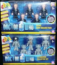 Dr Who Character Building 5 Figure Sets - Choose Silent Army/ Cybermen Collector
