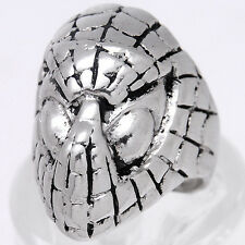FRX023 Hollywood Movies SpiderMan Ring Silver Unisex Ring Motorcycle Biker RING