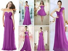 Lavender Evening Party Prom Homecoming Formal Gowns Bridesmaids Dresses size6-26