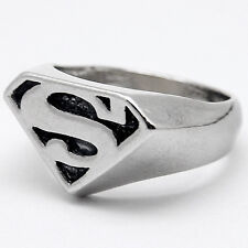 FRX072 Superman Ring S Mark Logo Ring Fashion Motorcycle Biker RING