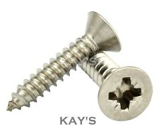 No.8 Pozi Countersunk Self Tapping Screws, A2 Stainless Steel Self Tappers