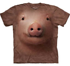 THE MOUNTAIN CUTE PIG  FARM  ANIMAL  BIG FACE ADULT  T SHIRT